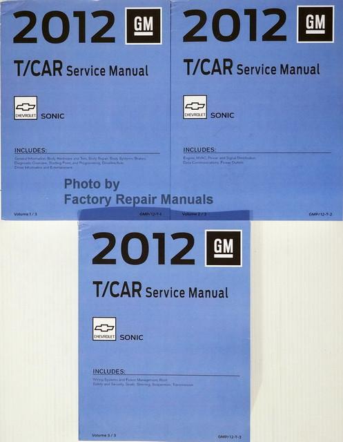 2012 chevy sonic factory service manual set original shop repair rh factoryrepairmanuals com LS2 Crate Engine 2003 GM LS Engine