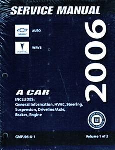 2006 chevy aveo pontiac wave factory service manual set original rh factoryrepairmanuals com 2014 Chevy Aveo 2004 Chevy Aveo