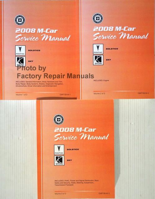 2008 Pontiac Solstice And Saturn Sky Factory Shop Service