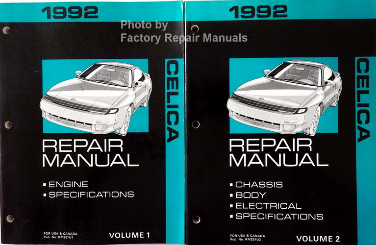 1992 toyota celica factory service manual set original shop repair rh factoryrepairmanuals com 1992 toyota celica repair manual pdf 1991 toyota celica repair manual