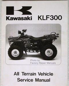 1986 1987 kawasaki bayou 300 atv factory service manual klf300 a1 a2 rh factoryrepairmanuals com kawasaki klf 300 service manual kawasaki kvf 300 service manual