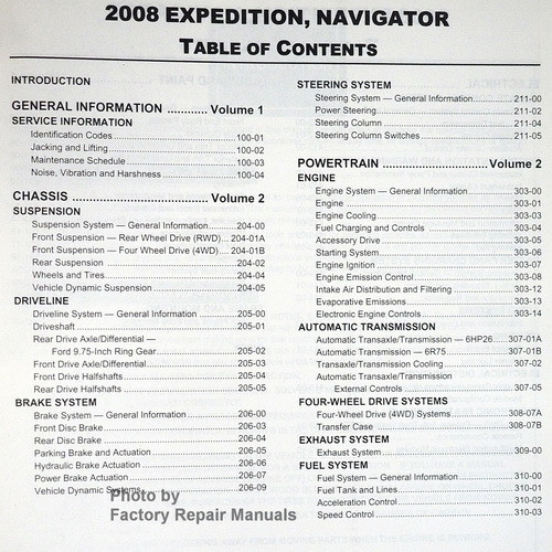 2008 ford expedition and lincoln navigator factory shop service rh factoryrepairmanuals com 2008 Ford Expedition Blower Relay 2008 ford expedition repair manual pdf