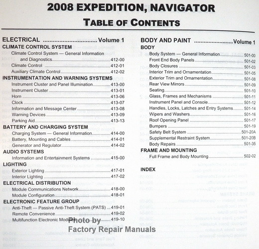 2008 ford expedition and lincoln navigator factory shop service rh factoryrepairmanuals com 2008 Ford Expedition Blower Relay 2008 Ford Expedition Blower Relay