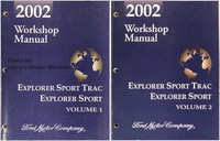 2002 Ford Explorer Sport Trac and Explorer Sport Factory Shop Service Manual Set