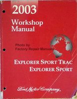 2003 Workshop Manual Explorer Sport Trac Explorer Sport Ford Motor Company