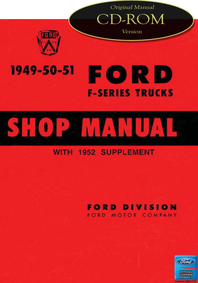 1949 1952 ford truck f1 f2 f3 f4 f5 f8 factory shop service manual image 1 fandeluxe Gallery