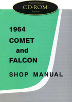 1964 Ford Falcon Ranchero Mercury Comet Shop Service Manual CD 1964 1/2 Mustang