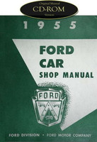1955 Ford Car & Thunderbird Shop Service Manual CD Skyliner Fairlane Victoria