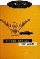 1958 Ford Thunderbird Shop Manual CD-ROM