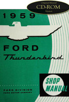 1959 Ford Thunderbird Factory Shop Manual CD - Complete 59 T-Bird Service Repair