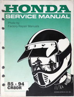 1985 1994 HONDA CR80 Service Manual CR80R Shop Repair 86 87 88 89 90 91 92 93