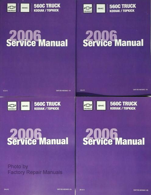 2006 chevrolet kodiak gmc topkick factory service manual set rh factoryrepairmanuals com 1998 GMC Sierra 2006 GMC Sierra Maintenance Schedule