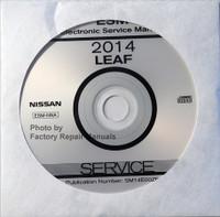 2014 Nissan LEAF Factory Service Manual CD-ROM - Original Shop Repair