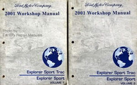 2001 Ford Explorer Sport Trac and Sport Factory Service Manual Set - Shop Repair