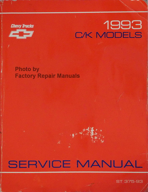 1993 chevy c k truck shop service manual pickup suburban blazer rh factoryrepairmanuals com 2002 chevy blazer factory service manual 2000 blazer factory service manual
