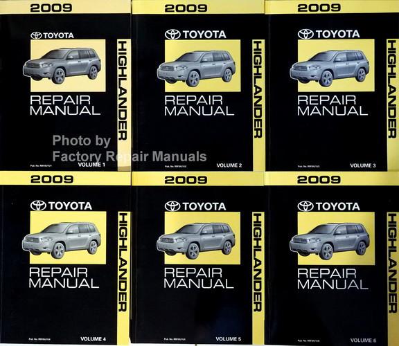 2009 toyota highlander factory repair manual 6 volume set original rh factoryrepairmanuals com 2014 Toyota 4Runner Limited Interior Toyota 4Runner