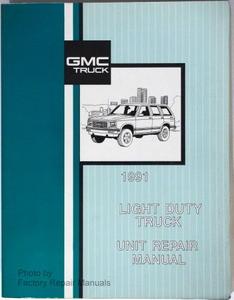 1991 gmc light duty truck unit repair manual c k r v 1500 2500 3500 rh factoryrepairmanuals com 1993 gmc vandura 2500 owners manual 1990 gmc vandura owners manual