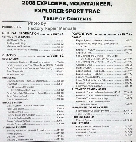 ford explorer sport trac owners manual
