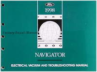 1998 Lincoln Navigator Electrical Vacuum and Troubleshooting Manual - Original