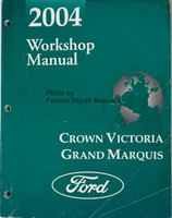 2001 Workshop Manual Crown Victoria Grand Marquis Ford