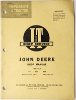 John Deere Model 80 820 830 Tractor I & T Shop Manual #JD-17 Service Repair 1960