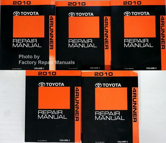 2010 toyota 4runner factory service repair manual 5 volume set rh factoryrepairmanuals com 2010 toyota 4runner service manual 2010 toyota 4runner factory service manual