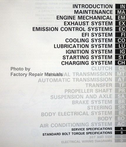 toyota 4runner repair manual pdf
