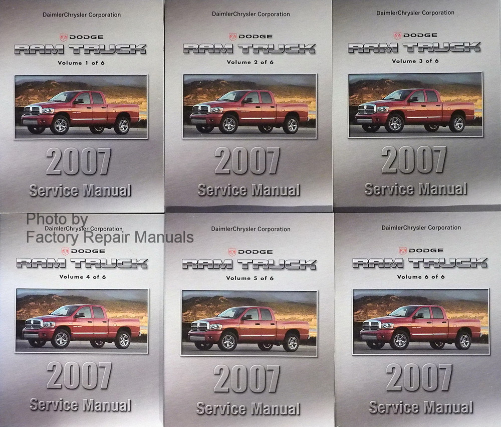 2007 dodge ram truck factory service manual set 1500 2500 3500 rh factoryrepairmanuals com 2007 dodge ram repair manual pdf 2007 dodge ram repair manual