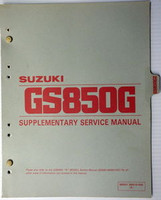 1982 Suzuki GS850 Service Manual Supplement GS850G GS850GZ Original Shop Repair