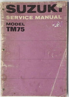 1974 Suzuki TM75 Mini Cross Motorcycle Service Manual TM75L TM 75 L Shop Repair
