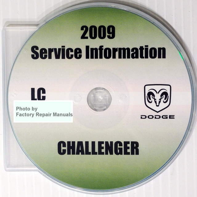 2009 dodge challenger factory service manual cd rom original shop rh factoryrepairmanuals com Dodge Challenger 6-Speed Manual Dodge Challenger 6-Speed Manual