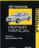 2010 Toyota Corolla Repair Manual Volume 1, 2, 3, 4