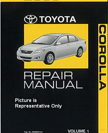 2010 toyota corolla factory repair manual set original shop rh factoryrepairmanuals com 98 Corolla Interior 98 corolla service manual