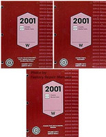 2001 Chevy Impala, Monte Carlo Factory Service Manual Set - Original Shop Repair