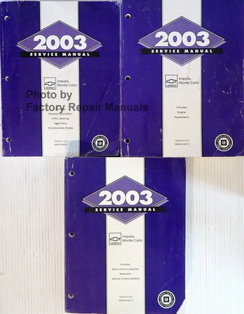 2003 chevy impala monte carlo factory service manual set original rh factoryrepairmanuals com 2005 Chevy Impala 2002 Chevy Impala