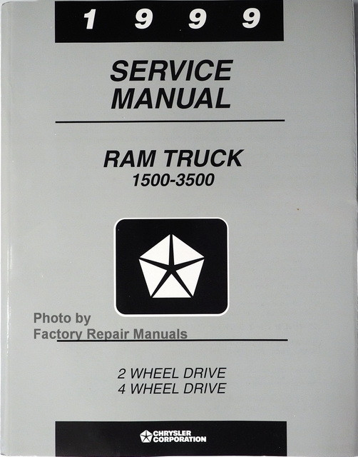 1999 dodge ram truck factory service manual 1500 2500 3500 rh factoryrepairmanuals com 1999 dodge ram service manual amazon 1999 dodge ram owners manual