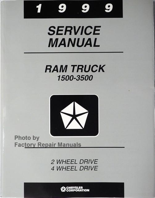 1999 dodge ram truck factory service manual 1500 2500 3500 rh factoryrepairmanuals com 1999 Dodge Ram 2500 Lifted 1999 Ram 2500 Parts