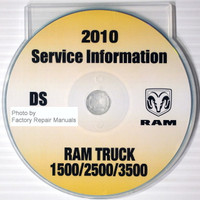 2010 Service Information DS Dodge Ram Truck 1500/2500/3500