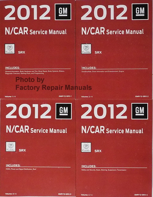 2012 cadillac srx factory service manual set original shop repair rh factoryrepairmanuals com 2014 cadillac srx manual 2012 cadillac srx manuel