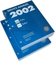 2002 Chevy Astro, GMC Safari Van Factory Service Manual Set Original Shop Repair