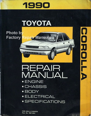 1990 toyota corolla factory service manual original shop repair rh factoryrepairmanuals com 1990 Toyota Cressida 1988 Toyota Cressida