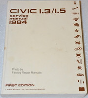 1984 Honda Civic Factory Service Manual - Original Shop Repair