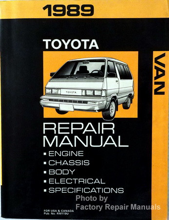 1989 toyota van factory service manual minivan original shop repair rh factoryrepairmanuals com 1990 Corvette 1990 Corvette