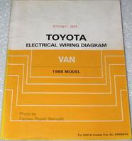1988 Toyota Van Electrical Wiring Diagrams - Minivan Original Shop Manual