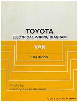 Toyota Electrical Wiring Diagrams Van 1989 Model