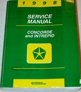 1998 chrysler concorde dodge intrepid factory service manual rh factoryrepairmanuals com 2004 Dodge Intrepid 2013 Dodge Intrepid