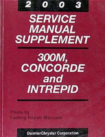 2003 Service Manual Supplement 300M, Concorde and Intrepid