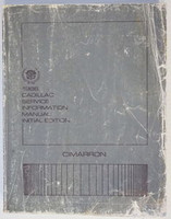 1986 Cadillac Cimarron Factory Service Manual - Original Shop Repair Book