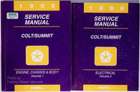 1996 Dodge Plymouth Colt Eagle Summit Factory Service Manual Set Shop Repair