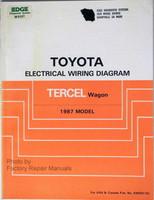 1987 Toyota Tercel Wagon Electrical Wiring Diagrams Original Shop Manual